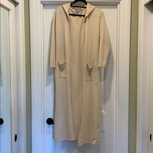 Long hooded light cardigan